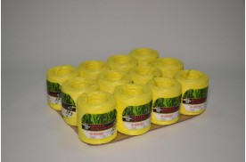 Нитка поліпропіленова кручена 1000 тех ( ас. 1кг/ 1000 м, кількість м /бобіні 200 ) жовта/пак.12 шт